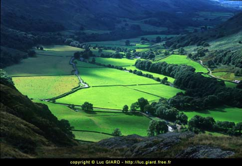 Lake district, vallée d\'Eskadale, Cumbria, Angleterre
